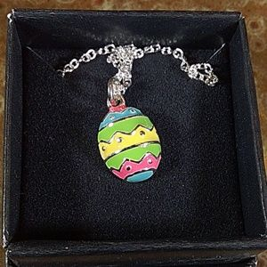 Easter egg charm necklace